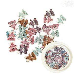 50 pièces/boîte 3D motif papillon coloré Laser flocons d'ongles paillettes miroir brillant Paillette fleur Nail Art décoration bricolage manucure-Style 2-01