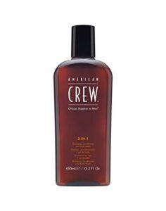 AMERICAN CREW Fluide 3-en-1 Shampooing/Soin/Gel Douche pour Cheveux/Corps, 450ml