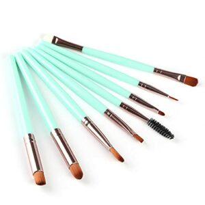 ASFD Tube en Plastique + Aluminium et Laine de Nylon Pinceau de Maquillage Professionnel 8 pièces Ensemble de pinceaux de Maquillage pour la Partie des Yeux Outils cosmétiques pour Les Yeux