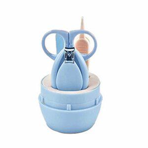 Babysbreath17 4pcs/set bébé ongles Trimmer Set Ciseaux enfant en bas âge du nouveau-né bébé coupe-ongles Kit de fichiers manucure Bleu