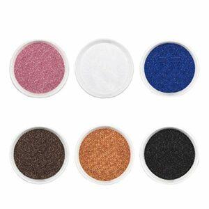 BANGSUN Lot de 6 pots de poudres à ongles de couleurs variées pour nail art et corps