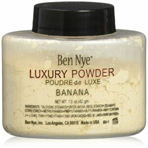 Ben Nye authentique Translucide Luxe Banana Flacon de poudre visage Maquillage 42,5gram–utilisé par Kim Kardashian, Made in the USA