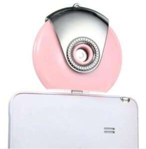 Bluelover Téléphone Portable Mini Humidificateur Portable Diffuseur Hydratant Aroma Spray pour Les Téléphones Android Soins De La Peau – Rose