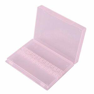 Boîte d'affichage d'art d'ongle de cas de foret d'ongle pour le polissage de manucure pour le salon de beauté(Pink)