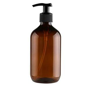 Bouteille De Pompe Vide Bouteille De Lotion Rechargeable Shampooing Liquide Distributeur De Douche Gel Conteneur 300 Ml Brun.