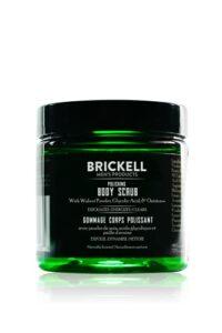 Brickell Men's Gommage corporel polissant pour hommes, exfoliant corporel naturel et biologique pour éliminer la saleté, prévenir les imperfections et éclaircir la peau (236 ml)