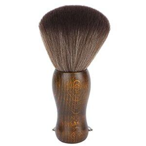 Brosse à Poussière pour le Cou, Brosse de Coiffure Brosses de Coupe de Cheveux Fronde du Cou Poignée en Fibre Douce Balayage des Cheveux Décolleté Coiffeur pour le Visage Brosse pour le Cou avec Manch