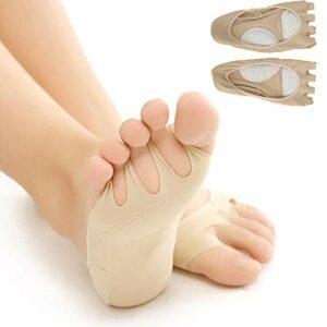 Chaussettes séparateurs d'orteils, chaussettes professionnelles respirantes pour soulagement de la douleur – Chaussettes à cinq orteils pour soins des pieds – Chaussettes pour homme