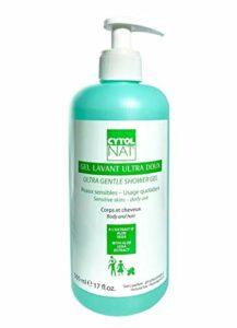 CYTOLNAT® Gel Lavant Ultra Doux 500 ml – Aloe Vera – Peaux sensibles et usage quotidien pour toute la famille – Visage, corps, cheveux – Hypoallergénique et sans parfum.