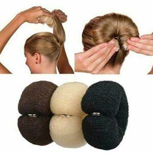 Donut Hair Bun Maker Set 3 Pièces Hair Styling Hair Styling Aid Set Accessoires pour Cheveux Oreiller pour Cheveux Donut Roll Knot Pad Hair Bun pour Enfants Filles Femmes