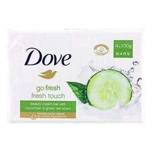Dove Savon Pain de Toilette Exfoliant Fresh Touch 4X100g – Lot de 2
