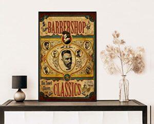 Dreacoss Poster vintage pour salon de coiffure, barbier, coiffeur, technicien de beauté, barbier, décoration murale sans cadre 20 x 25 cm