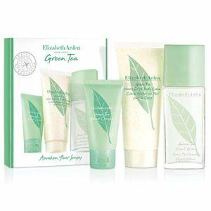 Elizabeth Arden – Green Tea – Coffret Eau Parfumée Vaporisateur & Crème pour le Corps & Crème pour les Mains – Senteur Fraîche & Fruitée – 50 ml