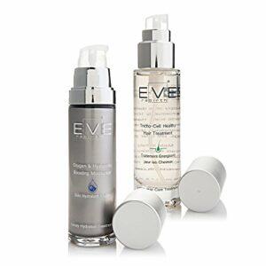 EVE REBIRTH Kit : Soin Hydratant Visage Oxygène, 50 ml + Traitement Energisant pour Cheveux, 50 ml