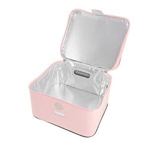 EXCEART Portable Boîte pour Le Téléphone Portable Bébé Sucette Maquillage Outils Rose