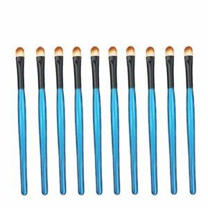 Exquis et beau 10pcs / sac, 5 sacs en 1 pack, 50pcs pinceau de maquillage professionnel fard à paupières yeux multifonctions maquillage pinceaux Pinceau pour les yeux (Color : Blue Black)