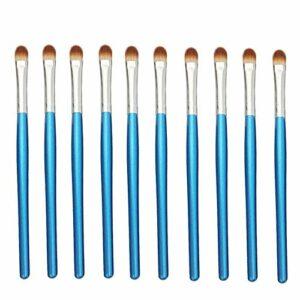 Exquis et beau 10pcs / sac, 5 sacs en 1 pack, 50pcs pinceau de maquillage professionnel fard à paupières yeux multifonctions maquillage pinceaux Pinceau pour les yeux (Color : Blue Silver)