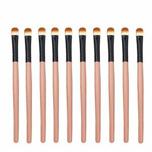 Exquis et beau 10pcs / sac, 5 sacs en 1 pack, 50pcs pinceau de maquillage professionnel fard à paupières yeux multifonctions maquillage pinceaux Pinceau pour les yeux (Color : Orange Black)