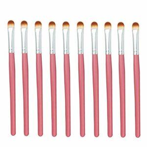 Exquis et beau 10pcs / sac, 5 sacs en 1 paquet, 50pcs professionnel pinceau fard à joues pinceau yeux multifonctions maquillage pinceaux Pinceau pour les yeux (Color : Pink Silver)