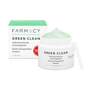 Farmacy Démaquillant naturel – Vert propre maquillage dissipation nettoyant baume cosmétiques, Echinacea, 3.4