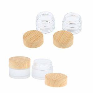 Fenteer 4pcs Pot Vides Ronde Cosmétiques Maquillages avec Couvercle Contenant Stockage à Lèvres – 15g