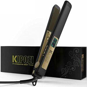 Fer à repasser professionnel en titane avec écran LCD numérique, peigne à fer à repasser, bigoudis pour cheveux, fer à boucler pour le soin de la beauté
