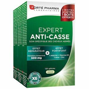Forté Pharma – Expert Anti-Casse | Complément Alimentaire capillaire à base de Kératine – Fortifiant Cheveux | Lot de 3 x 40 gélules