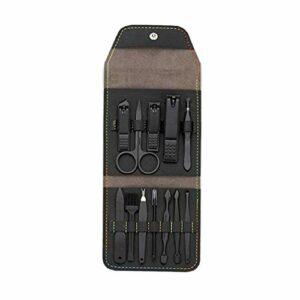 FRCOLOR 12 Pcs Nail Clipper Set Pédicure Kit Ciseaux à Ongles Cutter Oreille Pick Pince à Épiler Nez Cheveux Ciseaux Ciseaux à Sourcils Professionnel Toilettage Kit