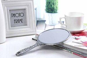 FYHH-JZHY Miroir Princesse Beauté Miroir Poignée Miroir Corps Miroir Sculpture Rétro (Couleur: Or, Taille: Petit)