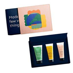 Glamorous Hub Arata Natural Essential Morning Regime Coffret cadeau visage soins bucco-dentaires Nettoyant pour le visage (150 ml), crème sérum pour le visage (100 ml), dentifrice (100 ml) pour femmes