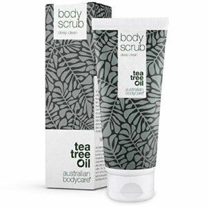 Gommage Corporelle Australian Bodycare Body Scrub (200 ml) | Gommage Exfoliant pour Impuretés, Boutons, et Saletés sur Corps, Dos et Pieds | À l'Huile d'Arbre à Thé