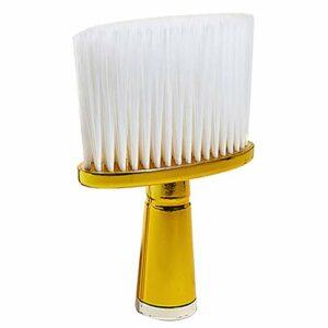 Heritan Brosse à cheveux souple pour le cou, le visage, la coupe des cheveux, la brosse de nettoyage pour barbier, outil de coiffure, doré