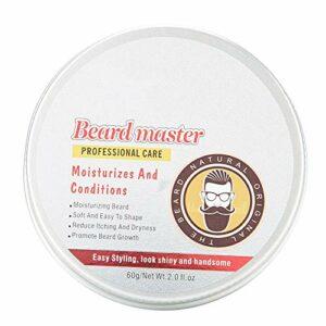 Hommes Barbe Crème Adoucir les Cheveux Hommes Barbe Hydratant Nourrissant Soin de la Barbe 60g pour Homme Papa Père Petit Ami