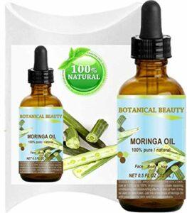 Huile de moringa 100% pure naturelle non-diluée pression à froid 15 ml pour peau cheveux lèvres ongles