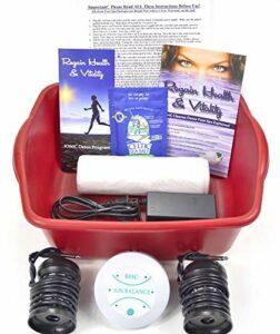 Ionic Cleanse Detox Bain de pieds avec livret et brochure pour retrouver santé et vitalité