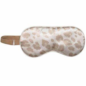 Kitsch Masque de sommeil en satin, plus doux que la soie, masque pour les yeux réglable pour dormir, bandeau en satin (léopard)