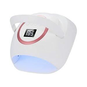 Lampe à ongles UV LED 72W, avec 4 minuteries et sèche-ongles à synchronisation de poignée, pour les outils d'art des ongles à capteur infrarouge automatique pour la maison/salon