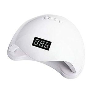 Lampe à ongles UV professionnelle, sèche-ongles à séchage rapide en gel de 48 W, avec 4 minuteries, lampe de durcissement à capteur automatique pour la maison/le salon