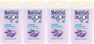 Le Petit Marseillais Douche Crème Extra Doux Lavande de Provence 250 ml – Lot de 4