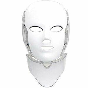 LED Photon 7 couleur masque de thérapie de lumière avec le cou | Visage beauté traitement soins de la peau masque de photothérapie