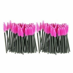 LHWY 100pcs / lot brosse rose fibres synthétiques One-Off Maquillage jetable Cils Brush