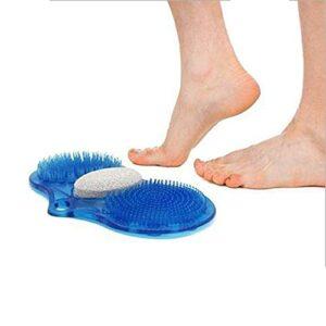 LIJIANZI Worth having – Masseur exfoliant pied, masseur d'acupressure à pied, pinceaux de gommage de pied de pierre Massage de gommage, pierre de pierre ponce exfoliante nettoyant à pied