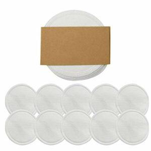 Lizefang Tampon Démaquillant Réutilisable,10 Pièces De Maquillage Démaquillant Coton Bambou Coton Réutilisable Rondes Tampons pour Visage Yeux
