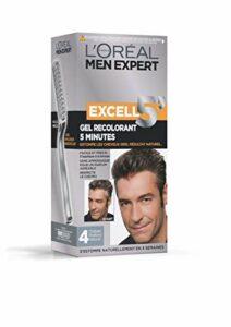 L'Oréal Men Expert Excell 5 Gel-Crème Recolorant pour Homme, Coloration des Cheveux Gris & Blancs, Sans Ammoniaque, Châtain Profond Naturel (4)