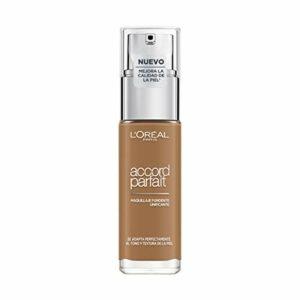 L'Oréal Paris – Fond de Teint Fluide Accord Parfait – Peaux Sèches à Normales – Teinte : Noisette (8.R) – 30 ml