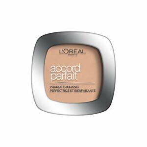 L'Oréal Paris – Poudre Fondante Accord Parfait – Peaux Normales à Mixtes – Teinte : Vanille Rosé (2.R) – 9 g