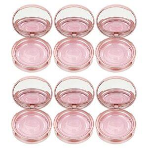 Lurrose 6 Pièces Faux Cils Ronde Boîte D' Papier Cils Boîte avec Miroir En Plastique Cils Titulaire Cas Container pour Faux Cils Soins Cosmétiques Outils