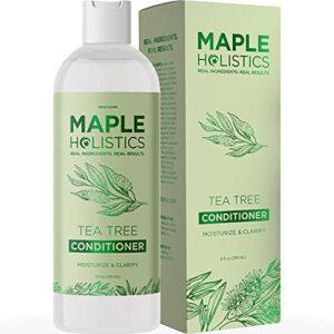 Maple Holistics L'huile de théier Revitalisant + couleur Safe Pellicules & Dry + endommagé Traitement des cheveux – 8oz Maple Holistics