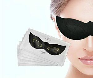 Masque des yeux de gel, éclaircit et élimine les sacs d'oeil, les lignes fines et les cercles sombres, hydratant, masque oculaire au collagène, masque oculaire, cercles sombres (6 paires)