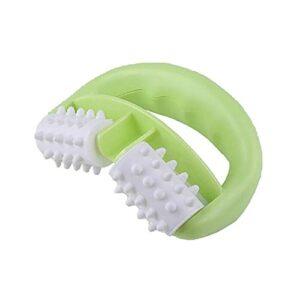 Mini Masseur de Rouleau de Cellule de Massage Anti-Cellulite de Corps Tenu dans la Main Masseur de Roue de Plante grimpante Masseur Durable de Double Roue – Vert